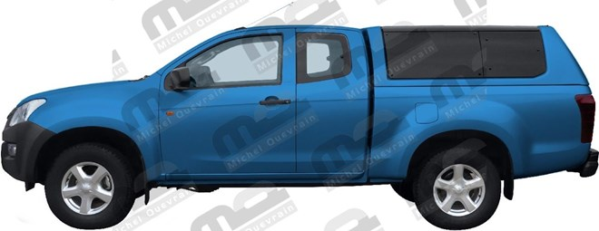 Hard Top Rh3 windowed painted Isuzu D-max XC 2012