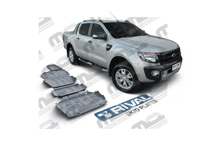 Set 5 skid plate 6 mm protection Ford Ranger 2012