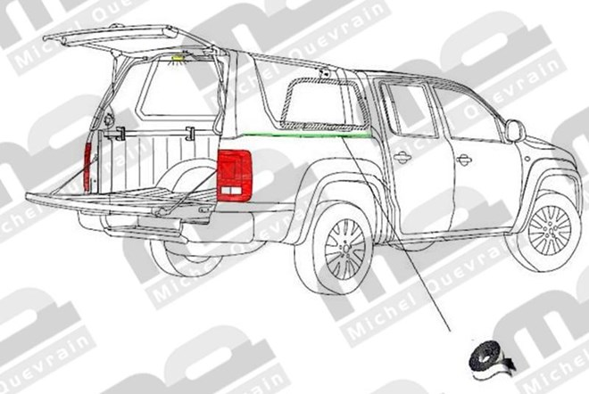 joint de base d'hard top Volkswagen Amarok