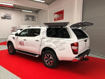 Hard Top Rh4 BLANC OCCASION DE STOCK 3 ouvrants opaques Renault Alaskan