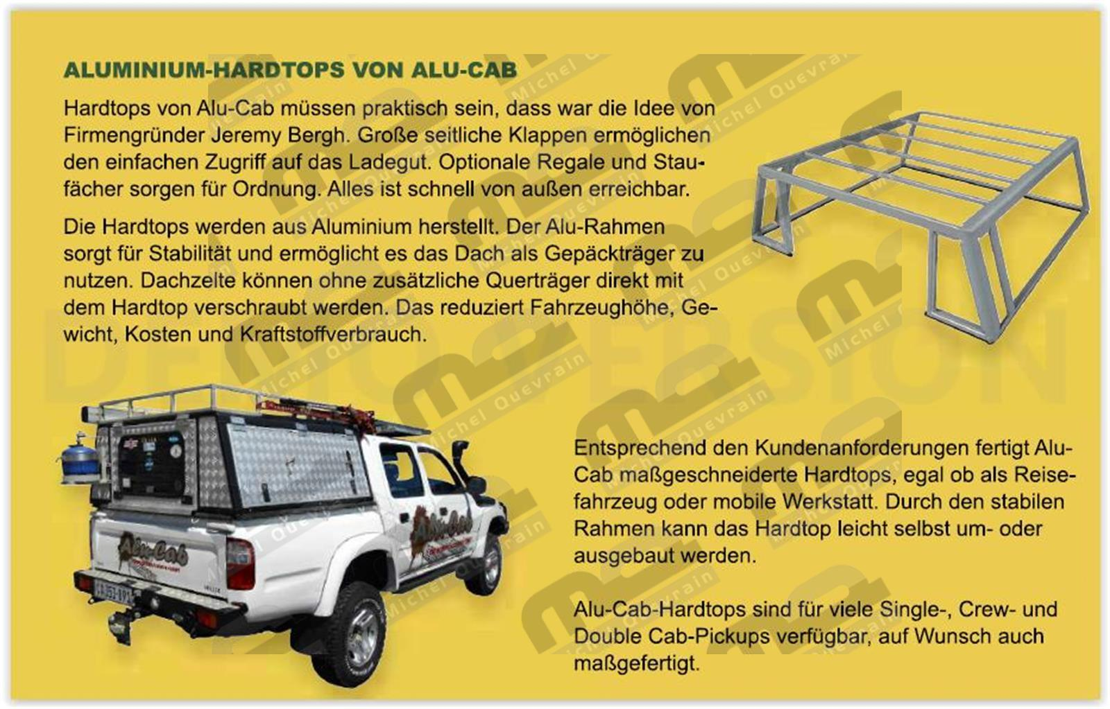 aluminium Hard top Ford Ranger DC 2012>