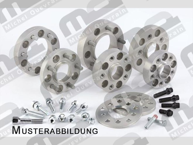 4 Alu Spacers 30mm front/40mm rear