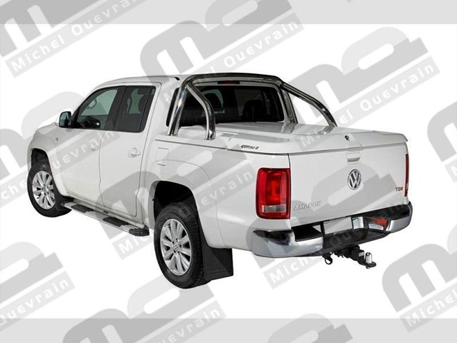 wit tonneau cover Amarok met oe roll bar