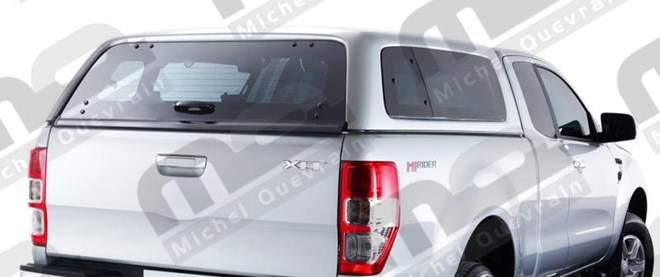 Hard top Ford Ranger X-tra cab '12windowed painted