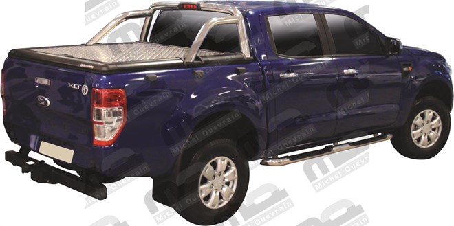 Couvercle alu gris Ford Ranger DC Limited 2012>