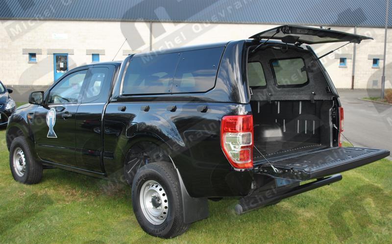hard top vitr peint ford ranger super cab 2012. Black Bedroom Furniture Sets. Home Design Ideas