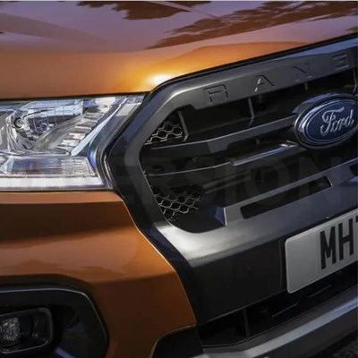 Ford Ranger 2019 Sabre Orange, Diffuse Silver, Performence bleu et Blue Lightning