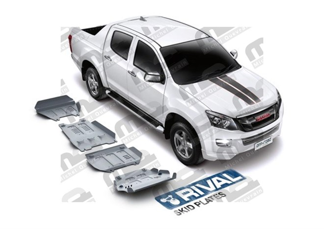 Set 4 skid plate 6 mm protection Isuzu D-max
