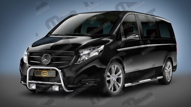 stainless steel push bar for the Vito-Viano 2014>