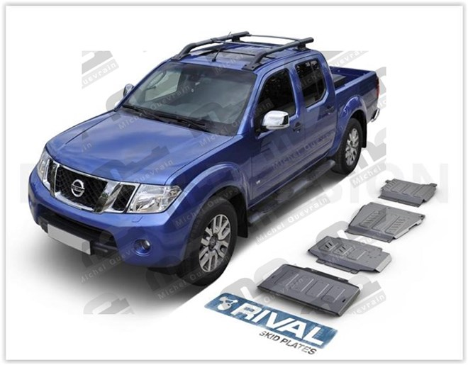 Set 4 skid plate 6 mm protection Navara D40 2015