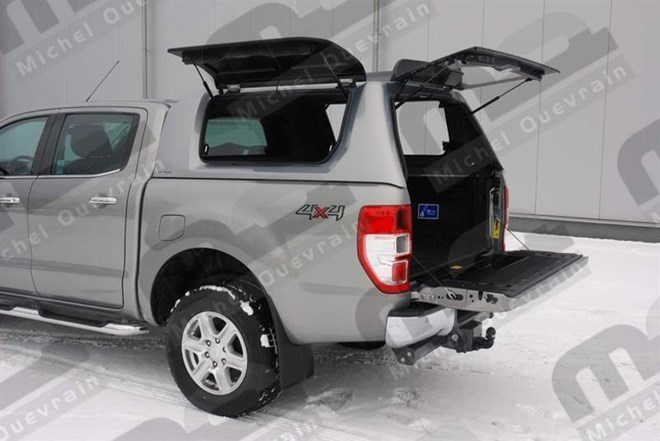 Hard top RH3 gullwing painted Ford Ranger DC 2012>